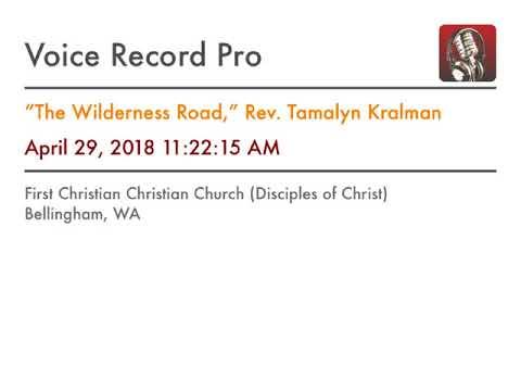 """""""The Wilderness Road,"""" Rev. Tamalyn Kralman"""