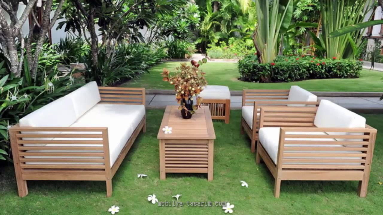 paletten yapılmış ahşap bahçe mobilyaları - youtube