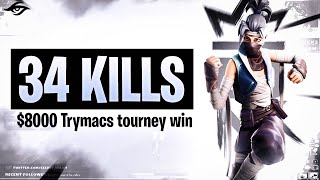 WINNING TRYMACS $8000 TOURNAMENT | 34 Kill Solo vs Squads (Fortnite Battle Royale)