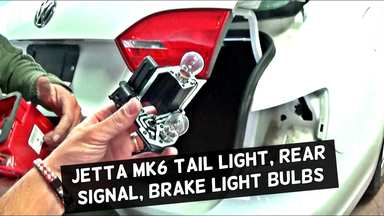 medium resolution of vw jetta mk6 rear tail light brake light turn signal light bulb replacement youtube