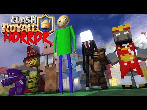 Monster School : CLASH ROYALE vs granny  baldi's slenderman - Minecraft Animation
