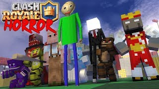 - Monster School CLASH ROYALE vs granny baldi s slenderman Minecraft Animation