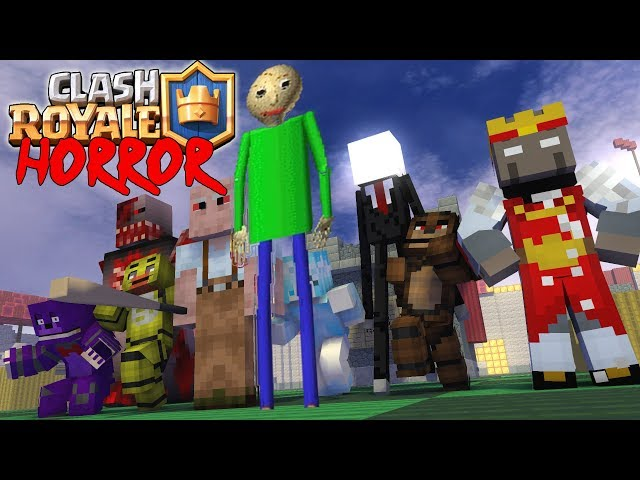 Monster School : CLASH ROYALE vs granny  baldi's slenderman - Minecraft Animation