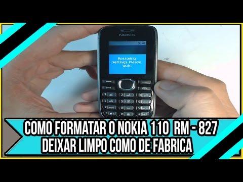 Como formatar o Nokia 110 RM-827