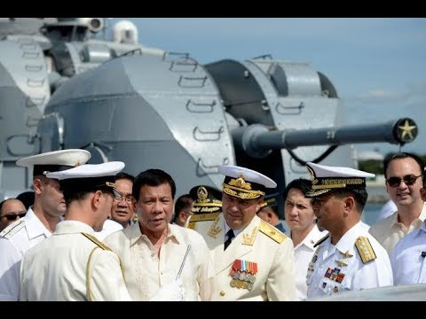 Philippines, Duterte welcomed the arrival Two Russian Navy warships in the Manila