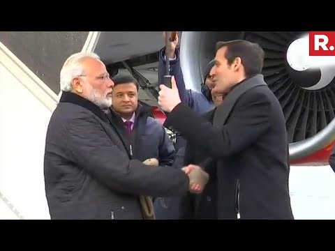 PM Narendra Modi Lands In Zurich