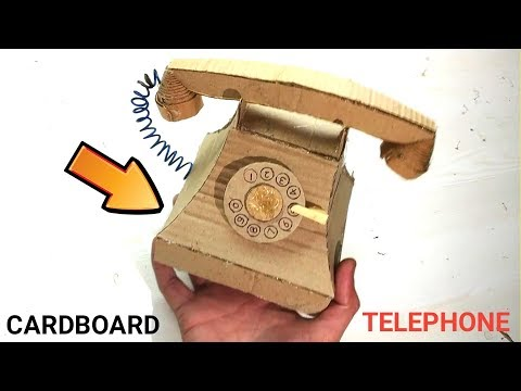 Cardboard Crafts: How to Make Old telephone model Using Cardboard | DIY Handcraft Crafts Project