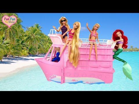 Barbie Pink Cruise Ship Unboxing Barbie Kapal Pesiar Merah Muda Barbie Navio De Cruzeiro Rosa