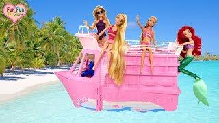 Barbie doll Pink Cruise Ship Toy Barbie Kapal pesiar merah muda Barbie Navio de cruzeiro rosa