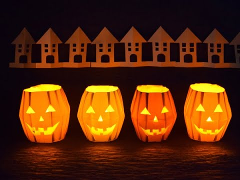 Cách gấp, xếp đèn bí ngô halloween bằng giấy origami - Jack O' Lantern