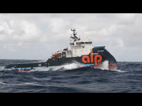 X-Bow tugs ALP Sweeper & Keeper in STORM