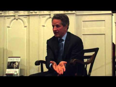 Timothy Geithner: Responding to Elizabeth Warren