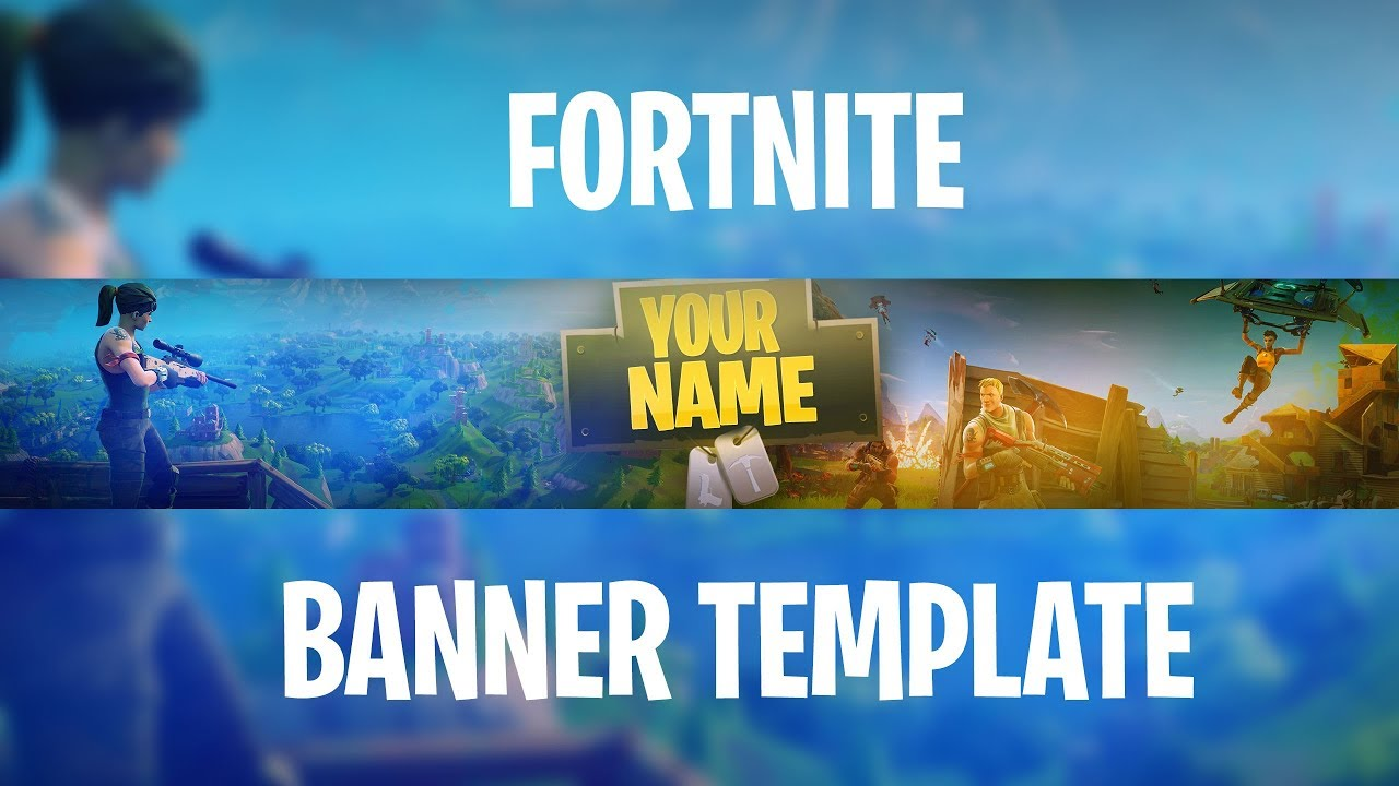 Free Fortnite Banner Template How To Edit Youtube