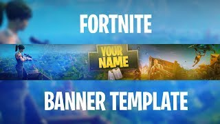 [FREE] Fortnite Banner Template + How to edit!