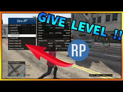 GTA 5 Online | MOD MENU | GIVE RP / LVL TO OTHER PLAYERS | LEXICON SPRX PS3 (GTA V MODS) + DOWNLOAD