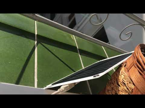 Solar panel problem charge