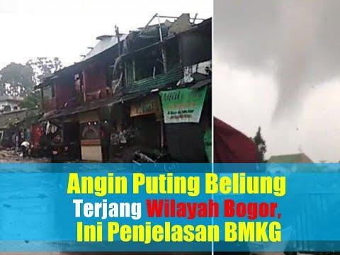 Video Detik-detik Angin Puting Beliung Terjang Wilayah Bogor, Ini Penjelasan BMKG