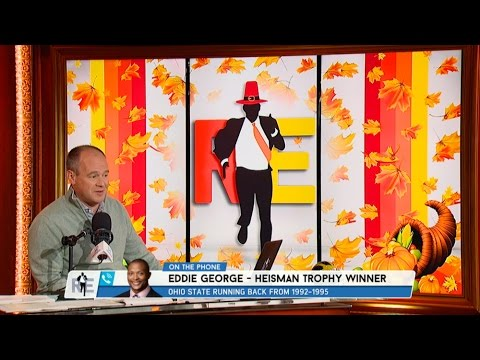 Ohio State Heisman Trophy Winner Eddie George Discusses Michigan @ Ohio State Game & More - 11/22/16