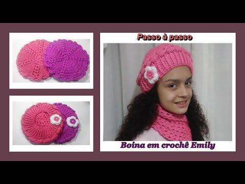 Passo à passo Boina em crochê Emily - YouTube e6b7191c495