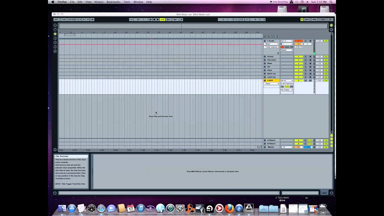 How to use backing tracks live for cover bands, singers using Ableton
