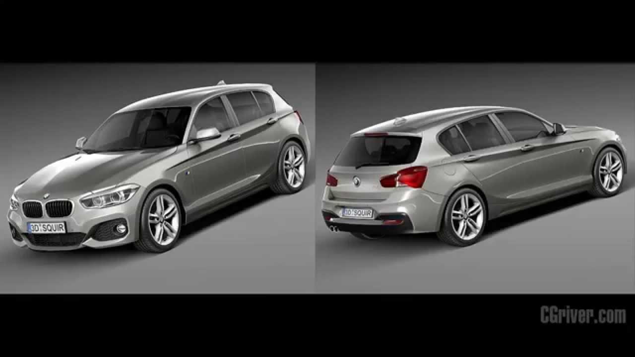 3d model bmw 1 series 5 door m package 2016 for 1 series 5 door bmw