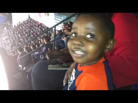Lennox McClain at Monster Truck Jam 2017 at the Lucas Oil Stadium in Indianapolis, IN