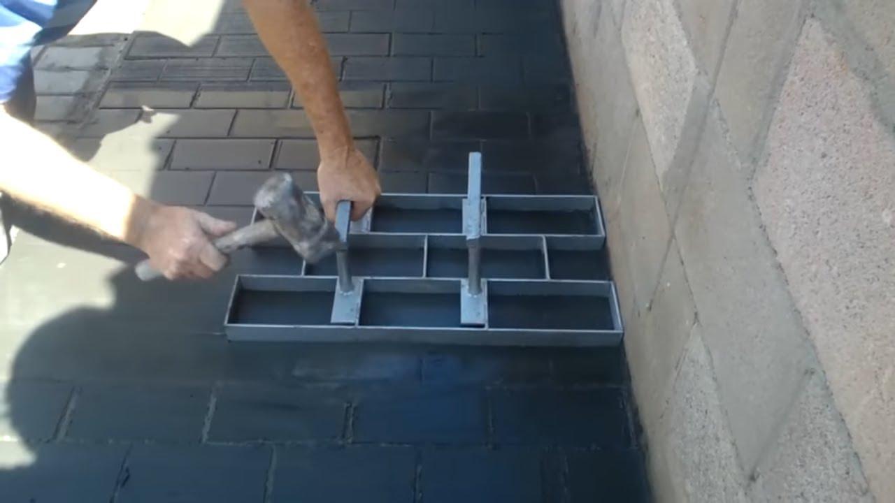 Concreto estampado youtube for Cemento estampado fotos