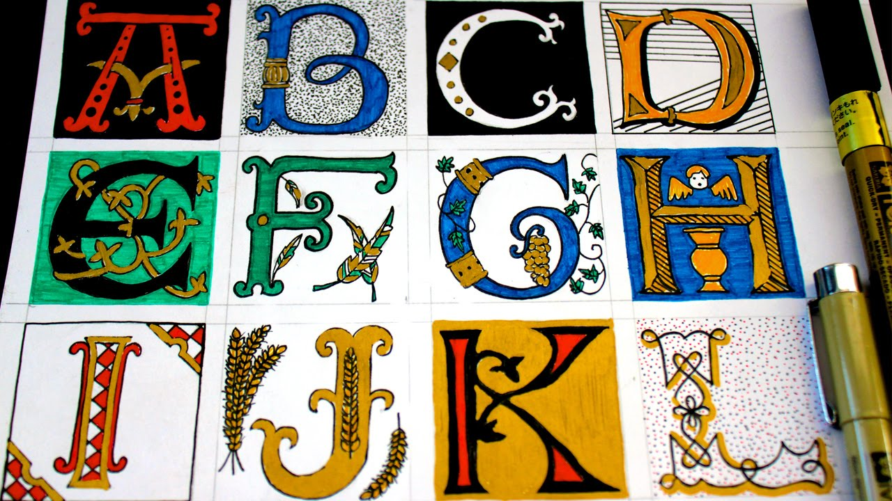 How To Draw Illuminated Letters You