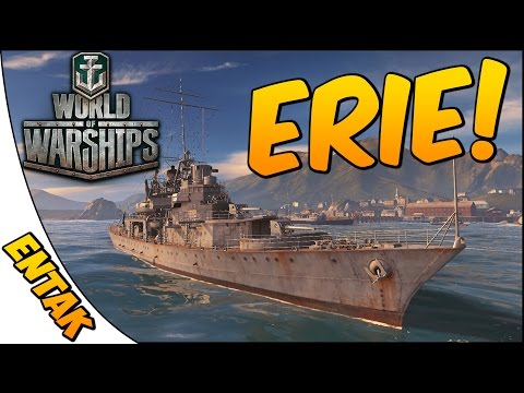World of Warships Gameplay ➤ Erie Cruiser Class Gameplay