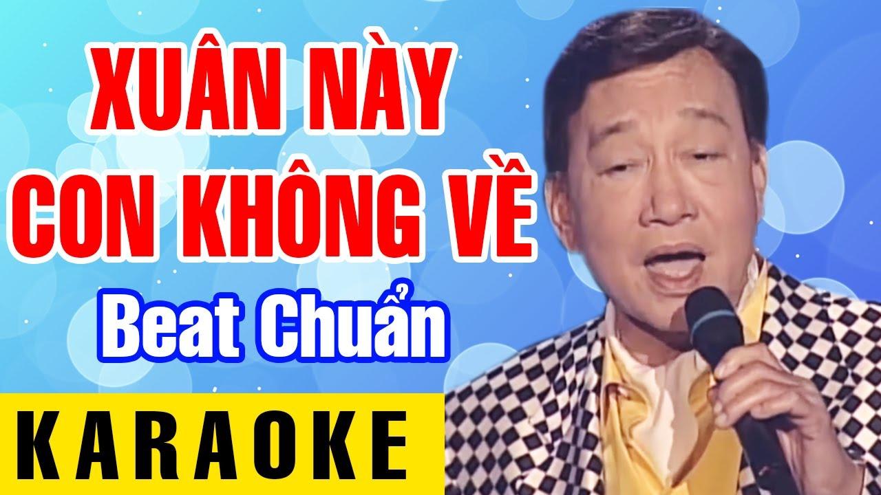 KARAOKE | Xuân Này Con Không Về | Nhạc Sĩ: Trịnh Lâm Ngân | Duy Khánh