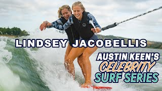 Lindsey Jacobellis SENDS IT Bungee Wakesurfing on Celebrity Surf Series