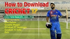 How to download and install EA SPORTS CRICKET 2017 game for pc