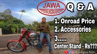 Jawa Classic Q & A | Demo Bike VS Delivery Bike | Onroad Price, Heating,Accessories..... |