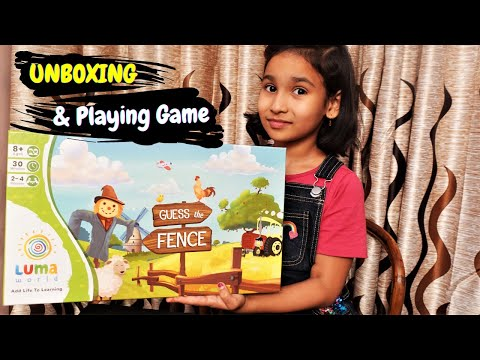 Guess The Fence - A Creative Board Game to Learn Geometry for Kids UNBOXING