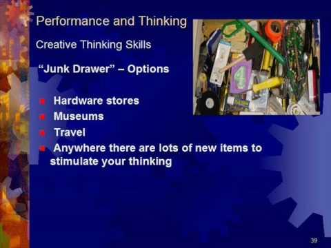 Topic – Creative Thinking Skills