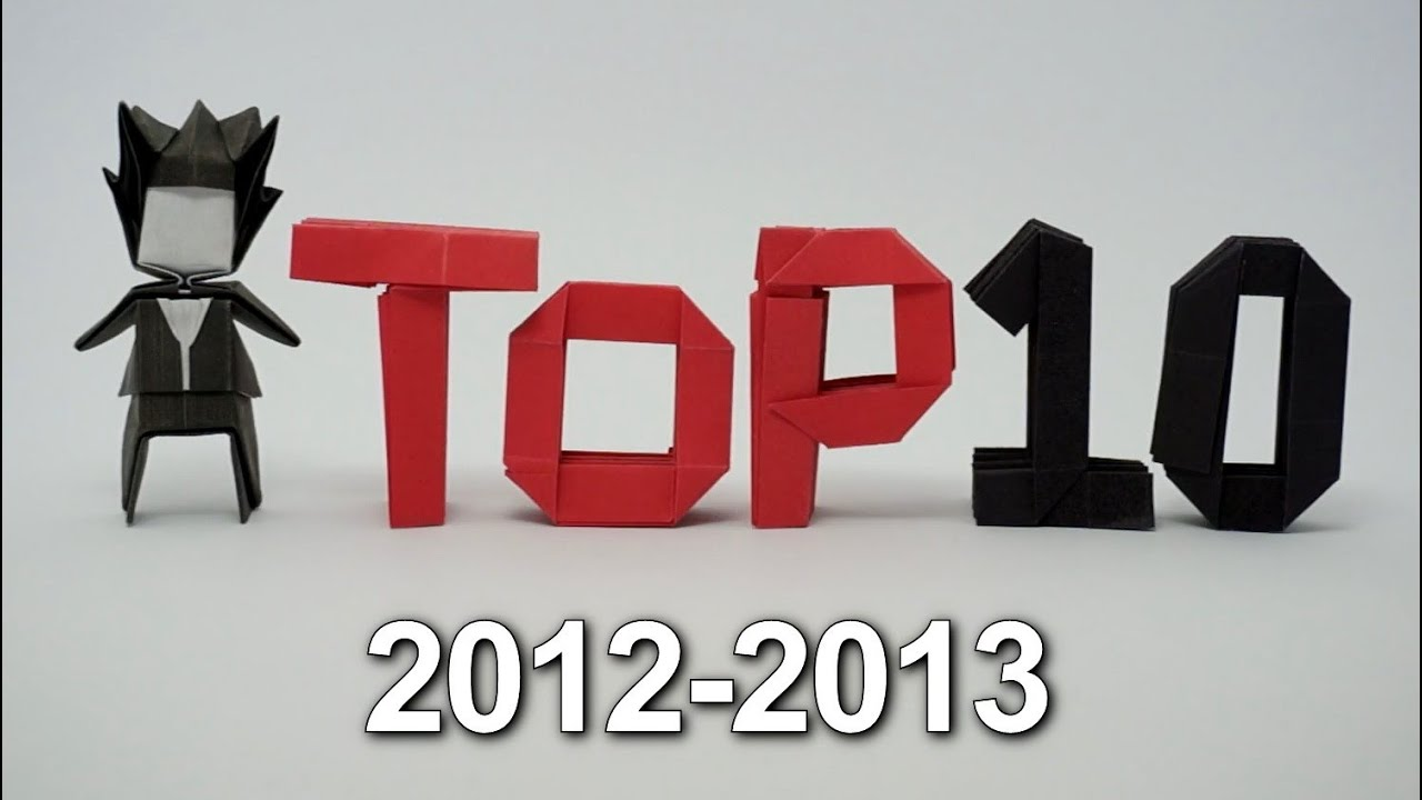 Origami Top 10 2012-2013 - YouTube - photo#5