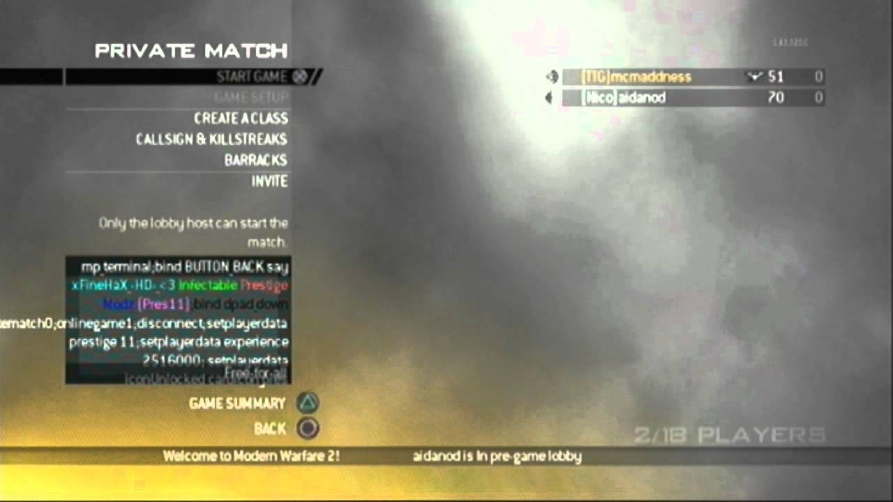 mw2 prestige hack ps3