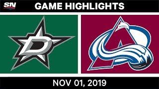 NHL Highlights   Stars vs Avalanche – Nov. 1, 2019