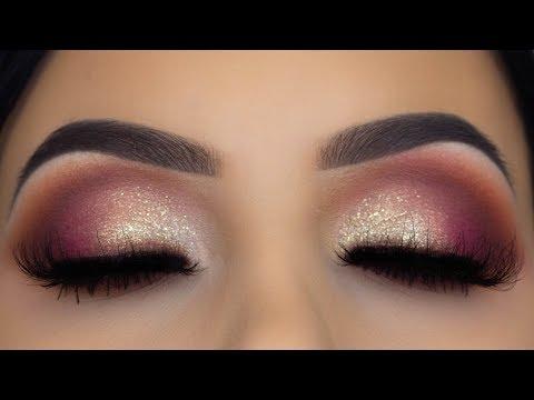 Smokey Eyes & Soft Glitter Makeup Tutorial | Using Drugstore Palette thumbnail