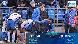 Оренбург 4:3 Динамо-СПб. Видеообзор