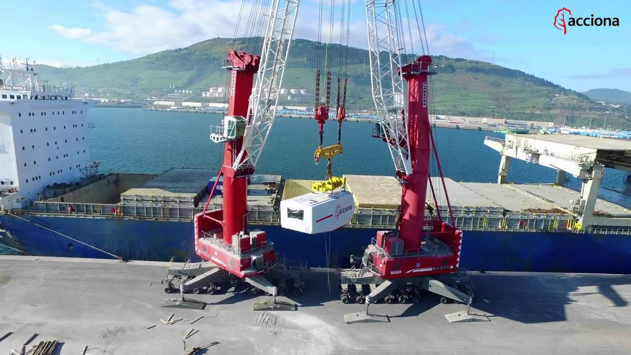 Shipment of wind turbines from port of Bilbao (Spain) to San Román (Texas)