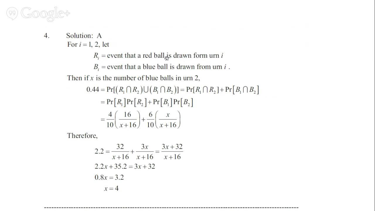 Edu-exam-p-sample-sol society of actuaries exam p probability.
