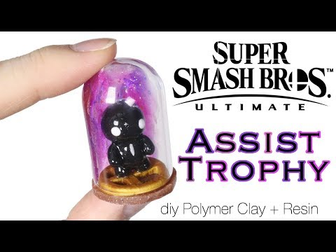 How to DIY Super Smash Brothers Ultimate Assist Trophy Polymer Clay/Resin Tutorial