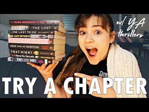 Try A Chapter Feat. New YA Thrillers | Book Tag