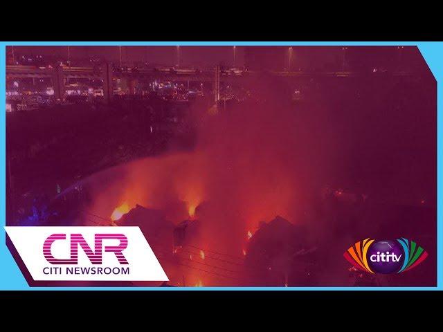 Shops razed in Odorna Market fire, Calm returns to Michel Camp