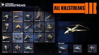 Call of Duty: Black Ops 3 - All Scorestreaks with GAMEPLAY (Showcase) KILLSTREAKS