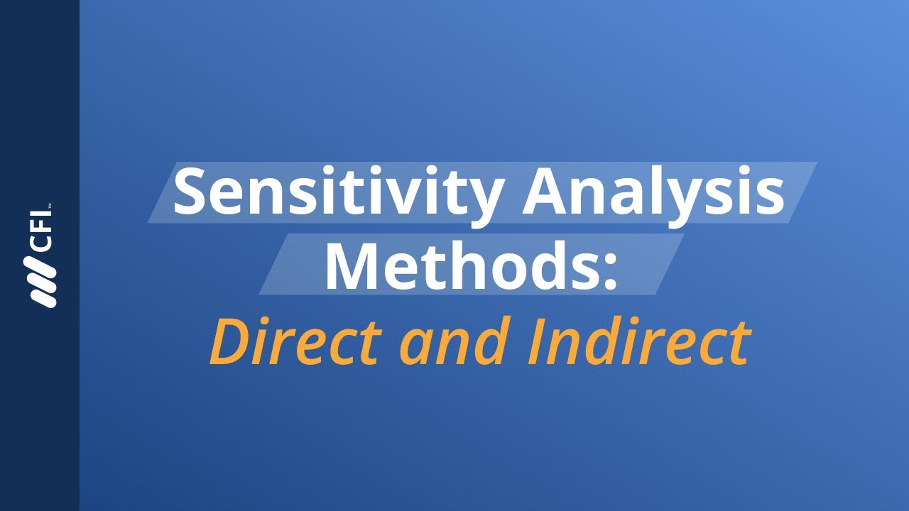 Overview of Sensitivity Analysis - What is Sensitivity Analysis