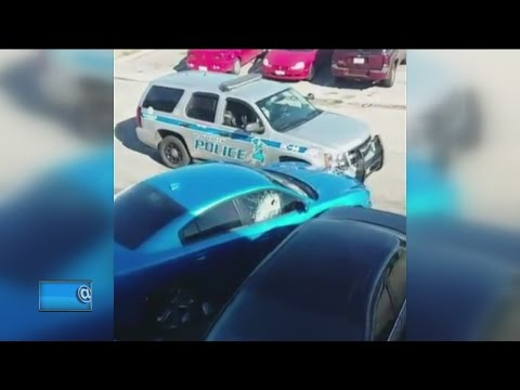 Driver in stolen car rams squad car, leads...