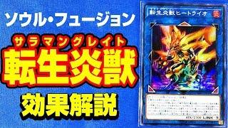 【#遊戯王】「SOUL FUSION」効果を解説!!転生炎獣(サラマングレイト)【#解説】