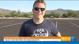 Man + River In The News! (Channel 12 News KPNX Original Clip - With Permission)